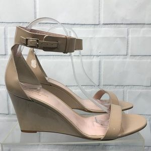 Kate Spade Ronia Patent Leather Ankle Strap Wedges